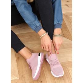 Buty sportowe skarpetkowe różowe G-363 Pink 1