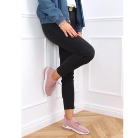 Buty sportowe skarpetkowe różowe G-363 Pink 2