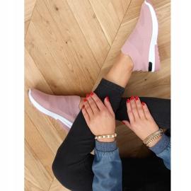 Buty sportowe skarpetkowe różowe G-362 Pink 2