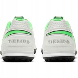 Buty piłkarskie Nike Tiempo Legend 8 Academy Tf AT6100 030 białe białe 4