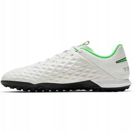 Buty piłkarskie Nike Tiempo Legend 8 Academy Tf AT6100 030 białe białe 2