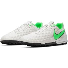Buty piłkarskie Nike Tiempo Legend 8 Academy Tf AT6100 030 białe białe 3