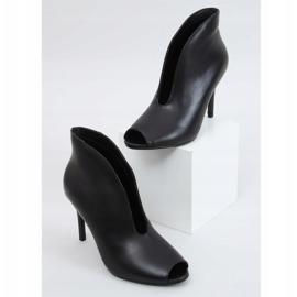 Botki open toe czarne 9501 Black 3