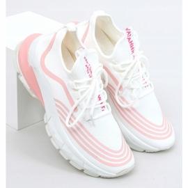 Buty sportowe skarpetkowe białe BX1820-SP WHITE/PINK różowe 3