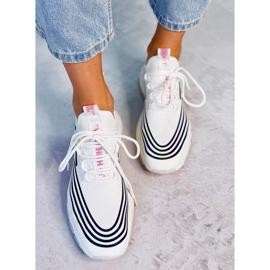 Buty sportowe skarpetkowe białe BX1820-SP WHITE/BLACK czarne 2