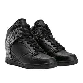 Czarne sneakersy za kostkę z motywem zwierzęcym Macy 1