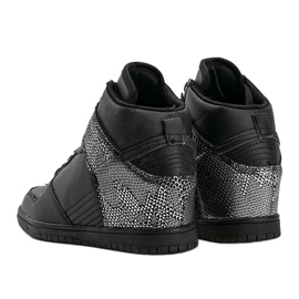 Czarne sneakersy za kostkę z motywem zwierzęcym Macy 2