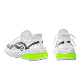 Białe wsuwane obuwie sportowe z holograficznym wzorem Delaney 2