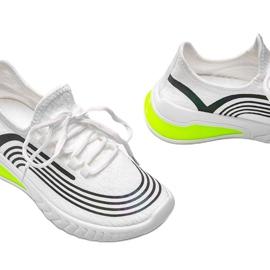 Białe wsuwane obuwie sportowe z holograficznym wzorem Delaney 3