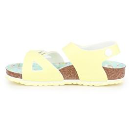 Sandały Birkenstock Colorado Kids Bs 1016039 czarne żółte 4