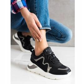 Weide Wygodne Stylowe Sneakersy czarne 4