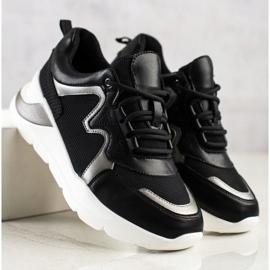 Weide Wygodne Stylowe Sneakersy czarne 2