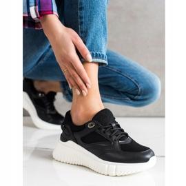 Weide Czarne Sneakersy Z Brokatem 4