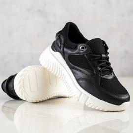 Weide Czarne Sneakersy Z Brokatem 3