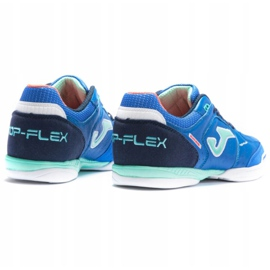 Buty piłkarskie Joma Top Flex sala In M 2104 niebieskie wielokolorowe 3