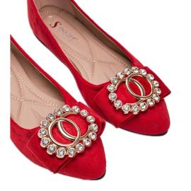 Czerwone balerinki z klamrą Ciara 2