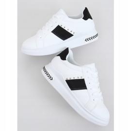 Trampki damskie białe CC-42 WHITE/BLACK czarne 2