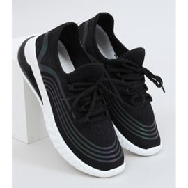 Buty sportowe skarpetkowe czarne 3436 Black 1