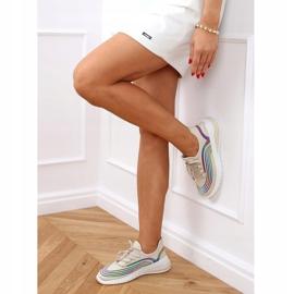 Buty sportowe skarpetkowe beżowe 3436 Beige beżowy 3