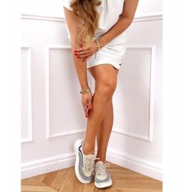 Buty sportowe skarpetkowe beżowe 3436 Beige beżowy 2