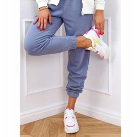 Buty sportowe damskie biało-różowe HX-68 Red białe 3