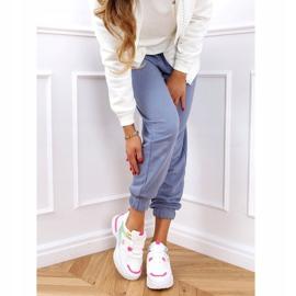 Buty sportowe damskie biało-różowe HX-68 Red białe 2