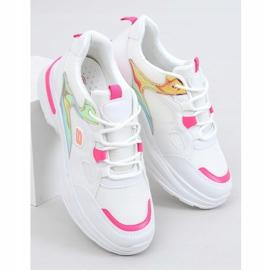 Buty sportowe damskie biało-różowe HX-68 Red białe 1