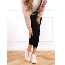 Buty sportowe na ukrytym koturnie różowe MY-2717 Pink 2