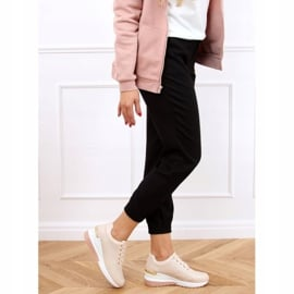 Buty sportowe na ukrytym koturnie różowe MY-2717 Pink 3