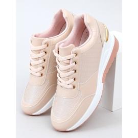 Buty sportowe na ukrytym koturnie różowe MY-2717 Pink 1