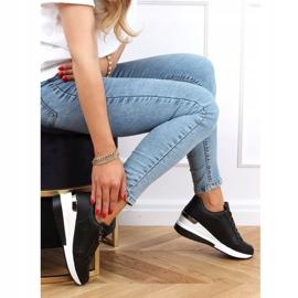 Buty sportowe na ukrytym koturnie czarne MY-2716 Black 3