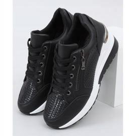Buty sportowe na ukrytym koturnie czarne MY-2716 Black 1