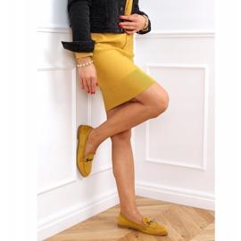 Mokasyny damskie musztardowe 8742 Yellow żółte 3