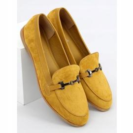 Mokasyny damskie musztardowe 8742 Yellow żółte 1
