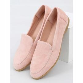Mokasyny z ćwiekami różowe 4322 Pink 1