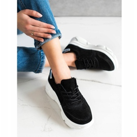 Filippo Skórzane Sneakersy Na Platformie czarne 3