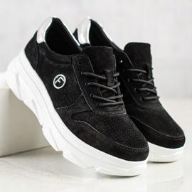 Filippo Skórzane Sneakersy Na Platformie czarne 1