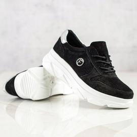 Filippo Skórzane Sneakersy Na Platformie czarne 4