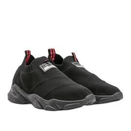 Czarne sneakersy sportowe Justice 1