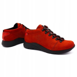 ButBal Damskie buty trekkingowe 674BB czerwone 4