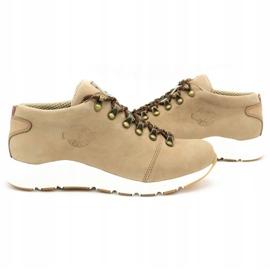 ButBal Damskie buty trekkingowe 674BB beżowe beżowy 6