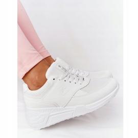 NEWS Damskie Sneakersy Na Koturnie Białe Avery 4