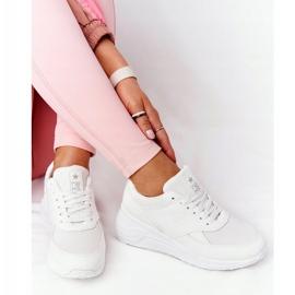 NEWS Damskie Sneakersy Na Koturnie Białe Avery 3