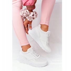 NEWS Damskie Sneakersy Na Koturnie Białe Avery 5