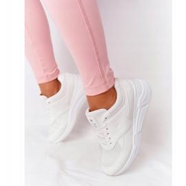 NEWS Damskie Sneakersy Na Koturnie Białe Avery 1
