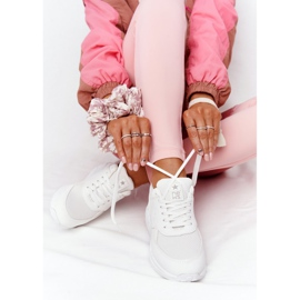 NEWS Damskie Sneakersy Na Koturnie Białe Avery 2