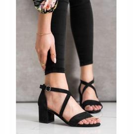 Sandały Z Paseczkami Sergio Leone czarne 4