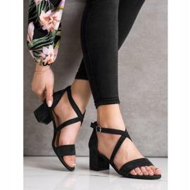Sandały Z Paseczkami Sergio Leone czarne 3