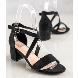 Sandały Z Paseczkami Sergio Leone czarne 2