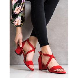 Sandały Z Paseczkami Sergio Leone czerwone 3